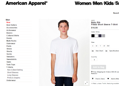 (Source: American Apparel)